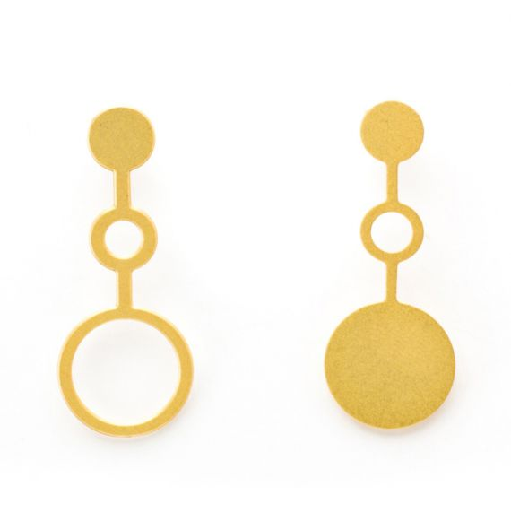 Earrings Earring Ondes Gold