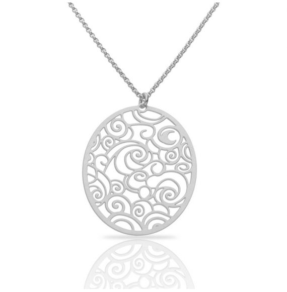 The Starry Night Silver Short Pendant