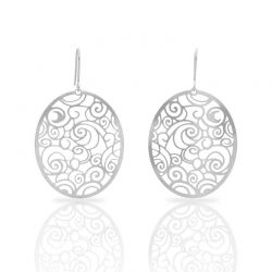 The Starry Night Silver Earring
