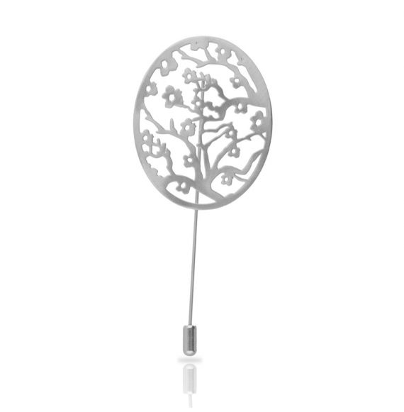 Brooches Almond Blossom Silver Brooch