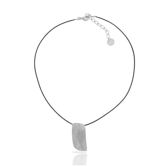 Zen Rectangle Silver Short Pendant