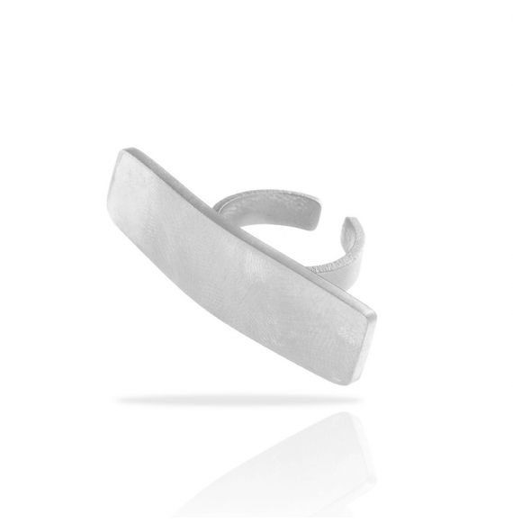 Rectangle Zen Silver Ring