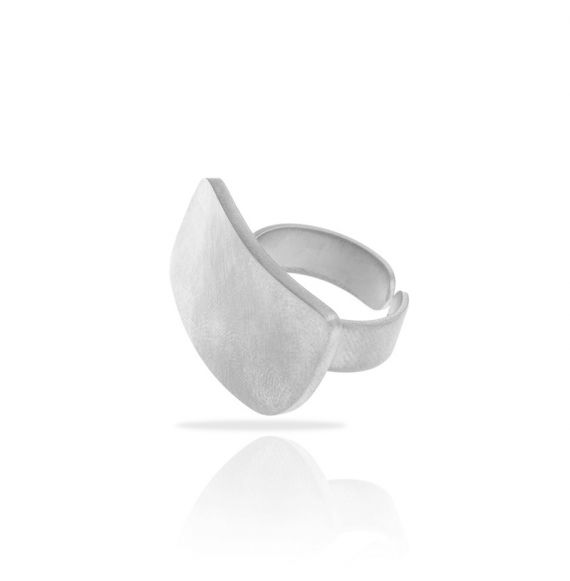 Rings Short Rectangle Zen Silver Ring