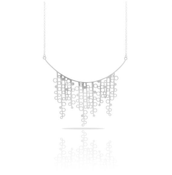 Chokers Blow Silver Necklace