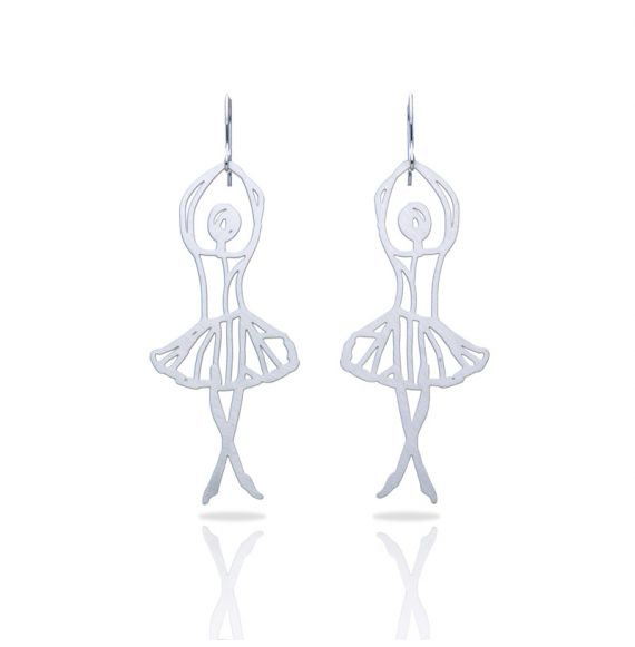 Earrings Ballet Silver Earring