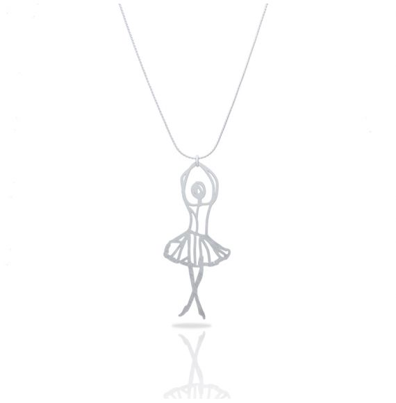 Necklace Ballet Silver Pendant