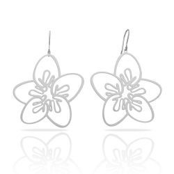 Five Petals Silver Earring