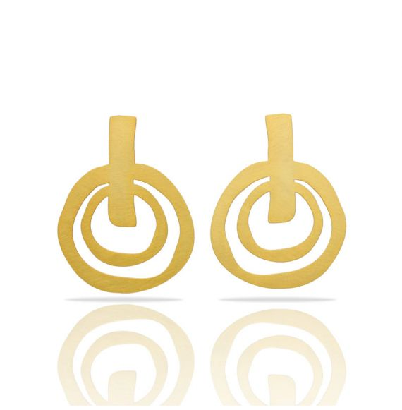 Earrings Ethnic Big Gold Earring