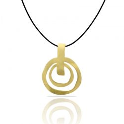 Necklace Ethnic Gold Small Pendant