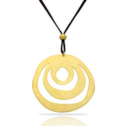 Ethnic Gold Big Pendant