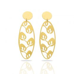 Leaves Gold Earring