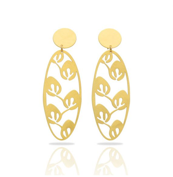 Earrings Leaves Gold Earring