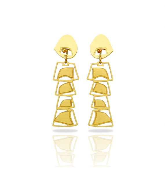 Africa Gold Mobile Earring
