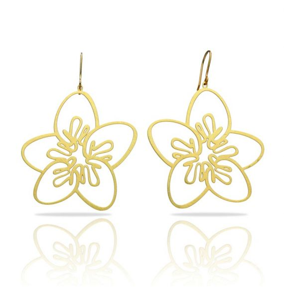 Five Petals Gold Earring
