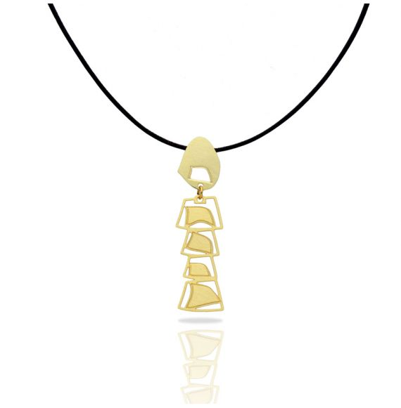 Africa Mobile Gold Pendant