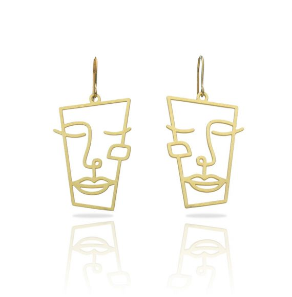 Earrings Cubism Gold Earring