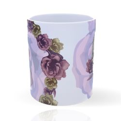 Cool Designs Colection Mug Skull with Flowers 32 cl