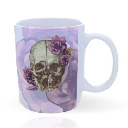 Mug Skull with Flowers 32 cl