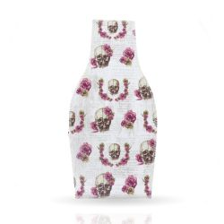 Cool Designs Colection Textil Vase Skull with Flowers