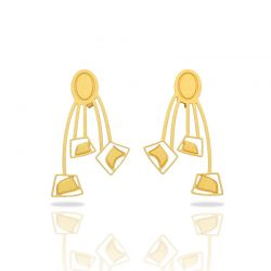 Africa Gold Large Earring