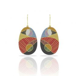 Cubism Gold Earring